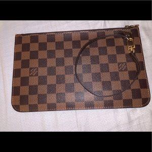Authentic Louis Vuitton damier ebene pouch